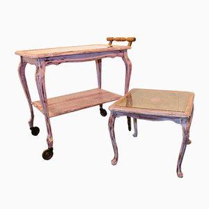 Tavolino e carrello, anni '50