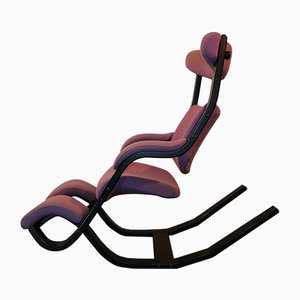 Purple Gravity Lounge Chair by Peter Opsvik for Stokke, 1970s