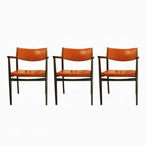 Leather Side Chairs from Spahn, 1960s, Set of 3