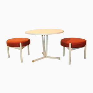 Table Basse & 2 Tabourets, 1970s