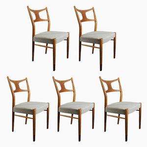 Dining Chairs by Kurt Østervig for Randers Møbelfabrik, 1950s, Set of 5