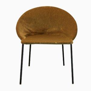 Scandinavian Green Shell Chair, 1960s