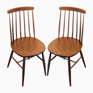Scandinavian Wooden Chairs, 1960s, Set of 2