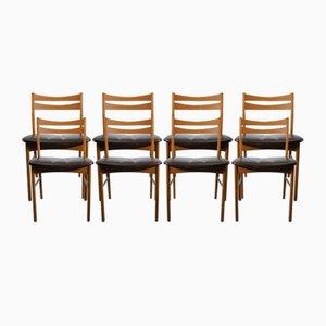 Dänische Vintage Esszimmerstühle, 1950er, 8er Set