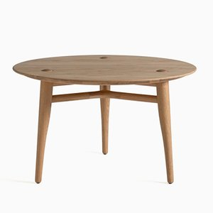 Table Basse Chilgrove 75 Ronde en Chêne par Sjoerd Vroonland pour Revised