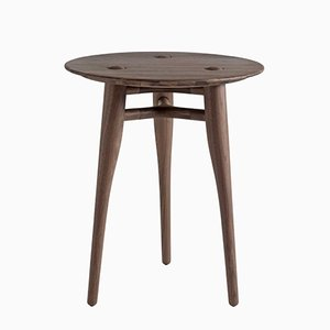 Chilgrove Round 50 Walnut Coffee Table by Sjoerd Vroonland for Revised
