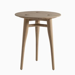 Chilgrove Round 50 Oak Coffee Table by Sjoerd Vroonland for Revised