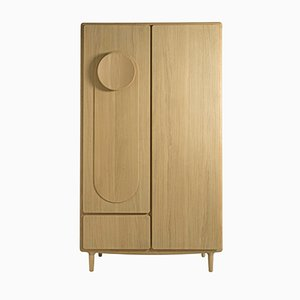 Falmer His Cupboard in Oak by Sjoerd Vroonland for Revised
