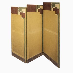 Art Deco Three Part Screen, 1930s