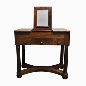 Antique French Dressing Table in Walnut, 1780s