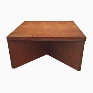 Tavolino da caffè in legno di Pierre Guariche per Minvielle, anni '60