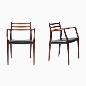Model 62 Rosewood Armchairs by N. O. Møller for J.L. Møllers, 1962, Set of 2