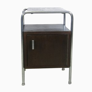 Steel Tube Bedside Table by Robert Slezak, 1930s