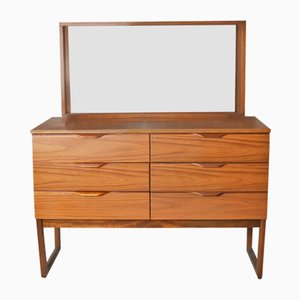 Mid-Century Chest of Drawers with Mirror from Europa Furniture, 1970s
