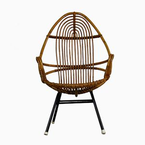 Rattan Lounge Chair from Rohe Noordwolde, 1960s