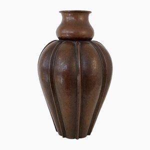Jarrón italiano de cobre de Vittorio Zecchin, años 20