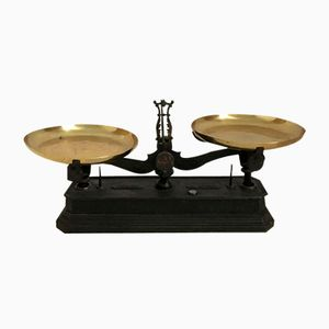 Antique Roberval Scale in Cast Iron & Copper