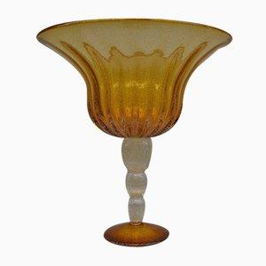 Coppa vintage in vetro di Murano, anni '80