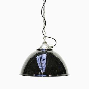 Lámpara colgante de acero con revestimiento de epoxy, años 50