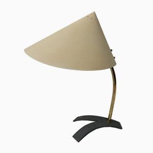 Lámpara de mesa austriaca de latón, años 50