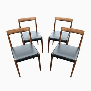 Vintage Rosewood Chairs from Lübke, Set of 4