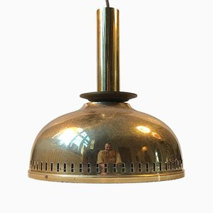 Mid-Century Brass Ceiling Lamp by ASEA, 1950s