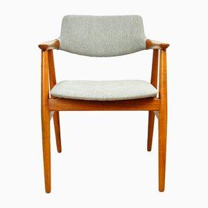 Vintage GM11 Beistellstuhl aus Teak von Svend Åge Eriksen für Glostrup, 1950er