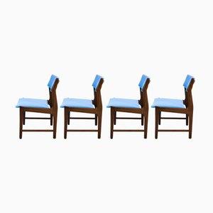 Chaises de Salon Mid-Century en Teck, Set de 4