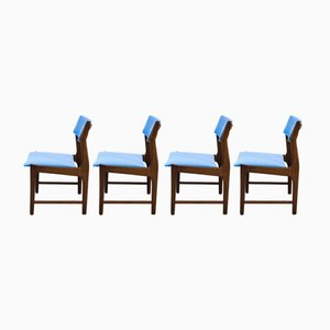 Mid-Century Teak Dining Chairs, Set of 4