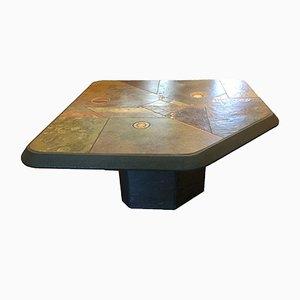 Tavolino da caffè in pietra di Paul Kingma, Paesi Bassi, anni '70