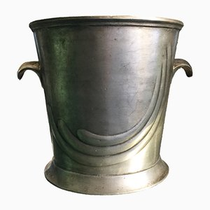 French Pewter Champagne Bucket, 1910s