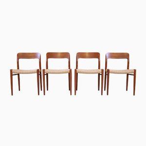 Esszimmerstühle von Niels Otto Møller für J.L. Møllers, 1960er, 4er Set