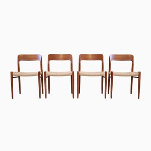 Sedie da pranzo di Niels Otto Møller per J.L. Møllers, anni '60, set di 4