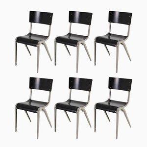 Industrielle Mid-Century Stühle von James Leonard für Esavian