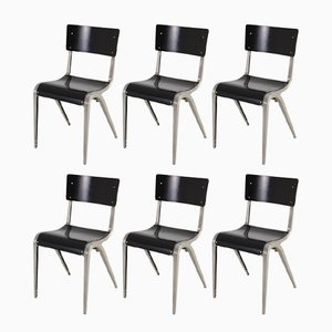 Mid-Century Industrial Chairs by James Leonard for Esavian