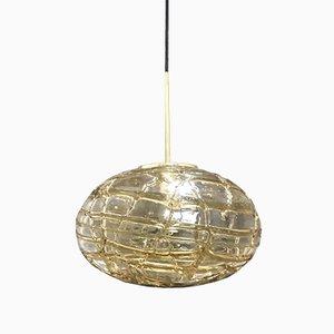 Lampada a sospensione sferica in vetro di Mazzega, anni '60