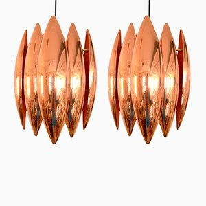 Kastor Pendants in Copper by Johannes Hammerborg for Fog & Mørup, 1960s, Set of 2
