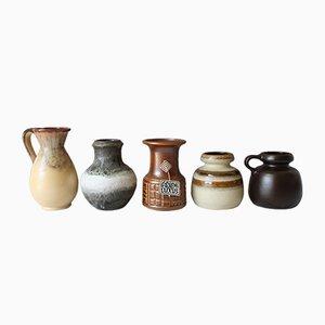 Kleine Mid-Century Keramikvasen von Carstens Tönnieshof, 5er Set
