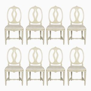 Gustavian Chairs, Set of 8