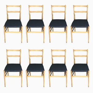 Chairs by Gio Ponti for Cassina, 1950s, Set of 8