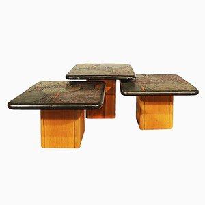 Mesas de centro de Kneip, años 90. Juego de 3