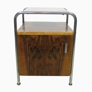 Steel Tube Bedside Table, 1930s
