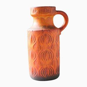 Vase Vintage en Céramique avec Relief de Scheurich, Pays-Bas