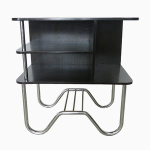Bauhaus Tubular Steel Frame Radio Table from Hynek Gottwald, 1930s