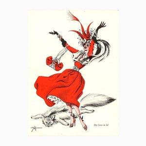 Lendhutchen Poster von E. Schoenenberger für Nebelsparter, 1946