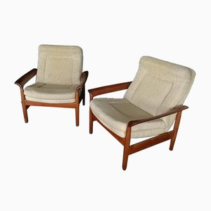 Scandinavian Armchairs in Teak, 1960s, Set of 2