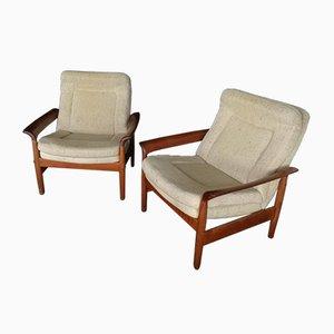 Skandinavische Sessel aus Teak, 1960er, 2er Set
