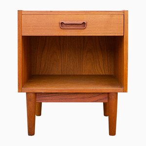 Danish Teak Nightstand by Gunnar Nielsen Tibergaard for Tibergaard, 1960s