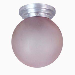 Lámpara de techo francesa vintage de opalina, años 40