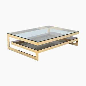 Large Golden G Coffee Table from Belgo Chrom, 1970s